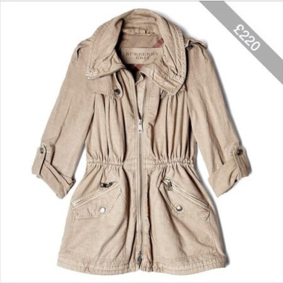 burberry beige cheap parka