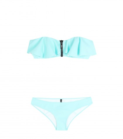 mytheresa.com -  Lauren Flounce bandeau bikini  - Swimwear - Beachwear - Clothing - Luxury Fashion for Women / Designer clothing, shoes, bags