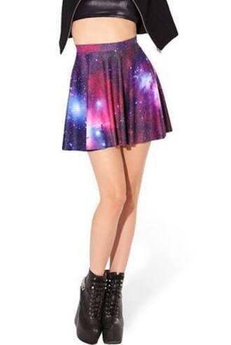 skirt skater skirt galaxy stars