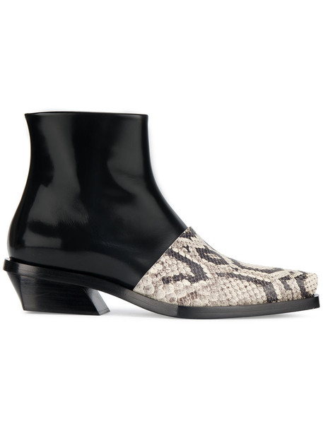 Proenza Schouler snake women snake skin ankle boots leather black shoes