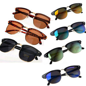 Fashion Retro Womens Mens Designer Metal Frame Oversized Sunglasses Glasses | eBay