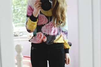 sweater cupcake food hipster tumblr cute pink vogue chanel hip trendy boho bohemian quote on it girly hair top shirt sweatshirt victoria's secret