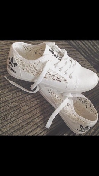 shoes black white sports shoes adidas crochet lace sneakers sneakers with lace sneakers lace cute