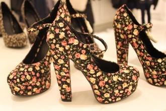 shoes flowers heels