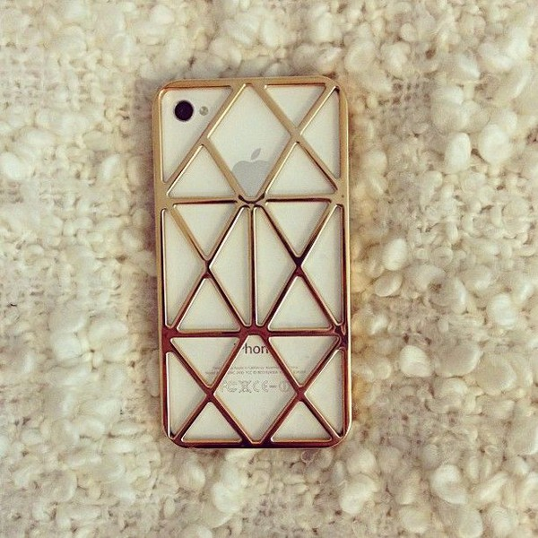 phone cover hollow case iphone case iphone 4 case iphone 4 case iphone phone cover hollow gold