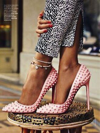 shoes christian louboutin pink pumps