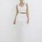 Cassanova knit maxi skirt set in off white at flyjane