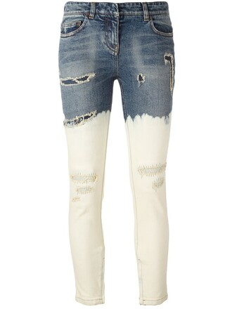 jeans skinny jeans women cotton blue