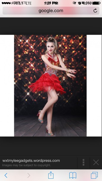 dress red latin dance