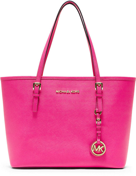 c3f8fc312627 Michael By Michael Kors Small Jetset Travel Tote Bag in Pink (neon pink) |  Lyst