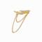 Maria black women`s crescent chain ear cuff - left