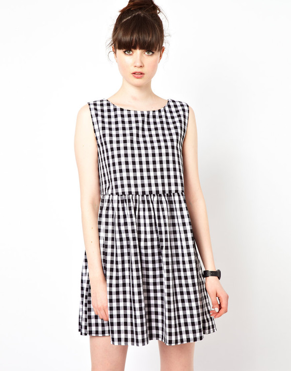 dress gingham smock dress gingham little black dress square