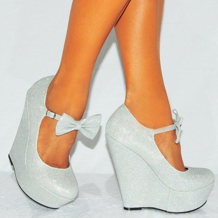 silver glitter heels with bow wwwpixsharkcom images