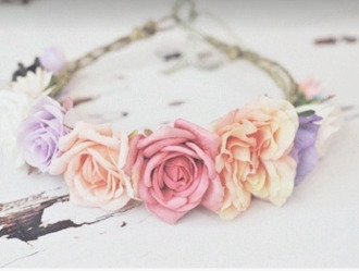 jewels floral beauty girl girly vintage swag flower crown