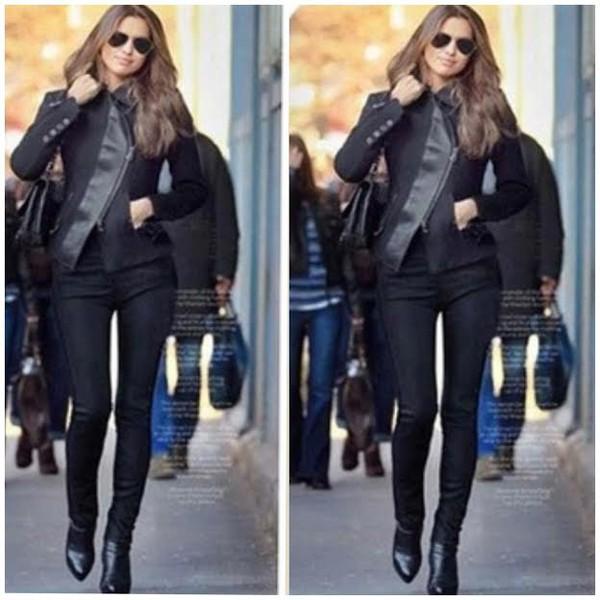jacket black jacket black jacket riahana fashion swag draya michele