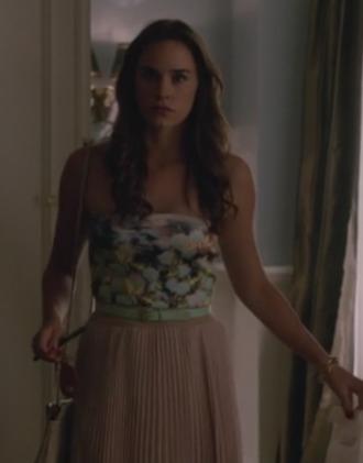 charlotte grayson maxi skirt revenge christa b. allen floral strapless top top tube top