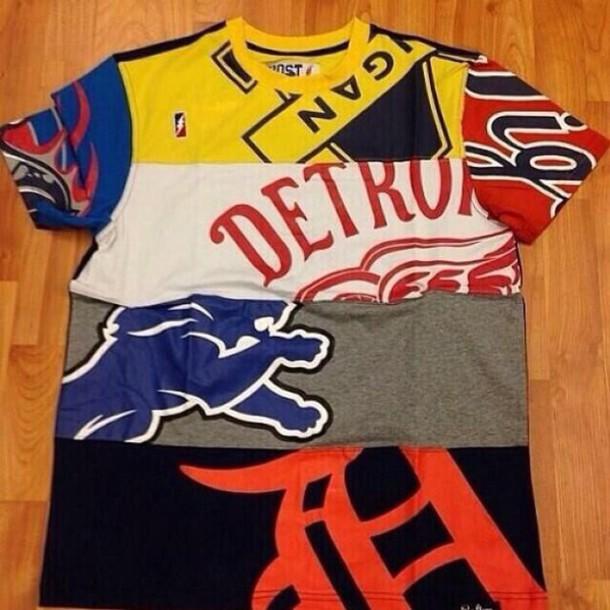 shirt detroit detroit lions jersey baseball