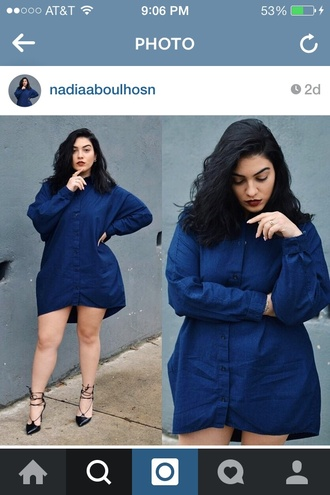 dress nadia aboulhosn blogger shirt dress curvy