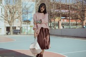 let's get flashy,blogger,sweater,skirt,shoes,bag,sunglasses