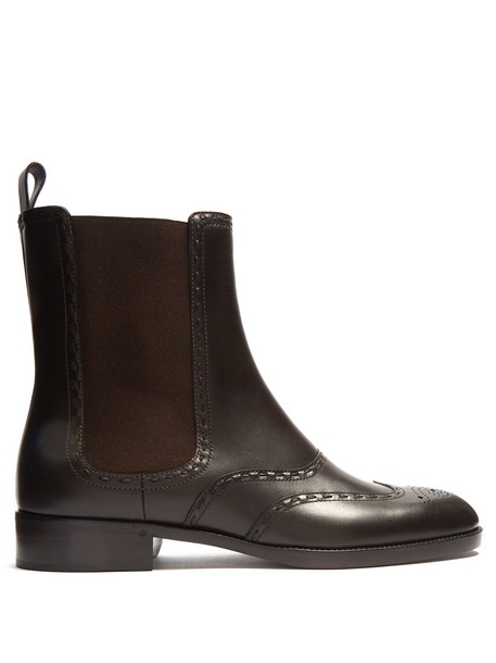 Bottega Veneta boot leather brown shoes