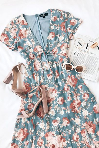 499834d9351 dress floral dress lulus lulus outfit outfit spring summer summer outfits
