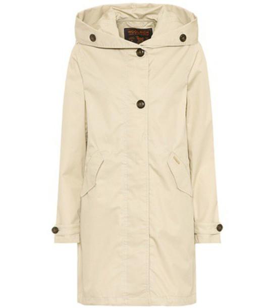 parka cotton beige coat