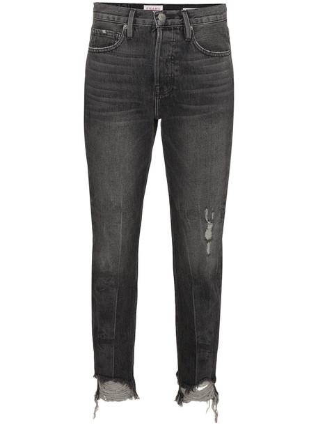 Frame Denim jeans women cotton grey