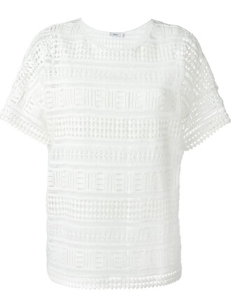 t-shirt shirt lace white top