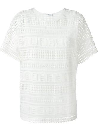 t-shirt shirt lace white top