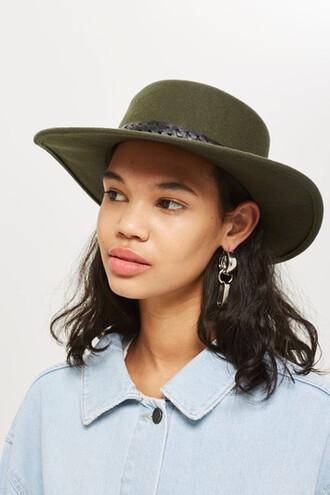 hat felt hat khaki