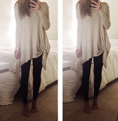sweater,cream sweater,casual
