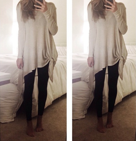 casual sweater so cute cream sweater