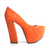 Shoes, Anne Platform Pumps- Orange