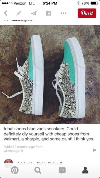 shoes turquoise vans