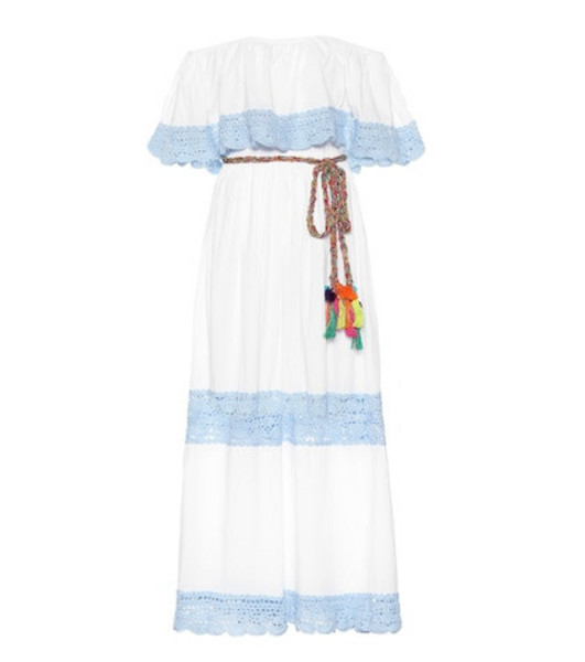 Anna Kosturova Santorini cotton dress in white