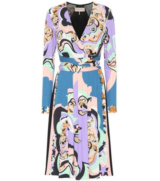 Emilio Pucci Printed silk-blend dress