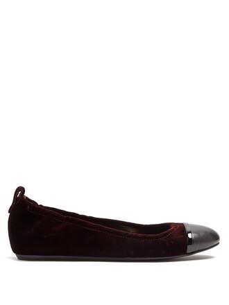 ballet flats ballet flats leather velvet burgundy shoes