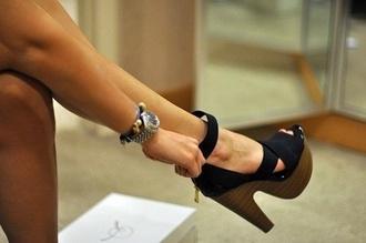 shoes black shoes heels high heels platform shoes