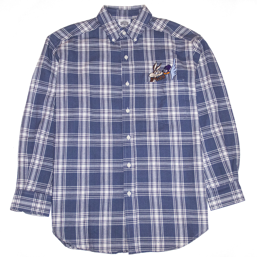 Looney tunes plaid shirt