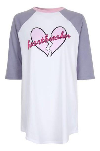 Topshop t-shirt shirt t-shirt sleep pink top