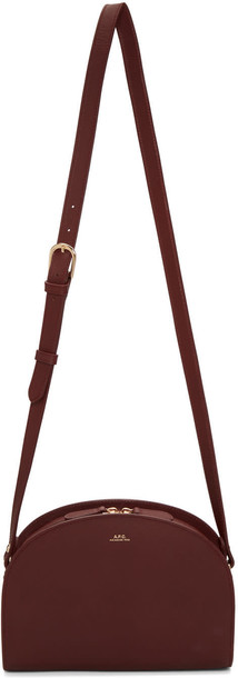 A.P.C. moon bag burgundy