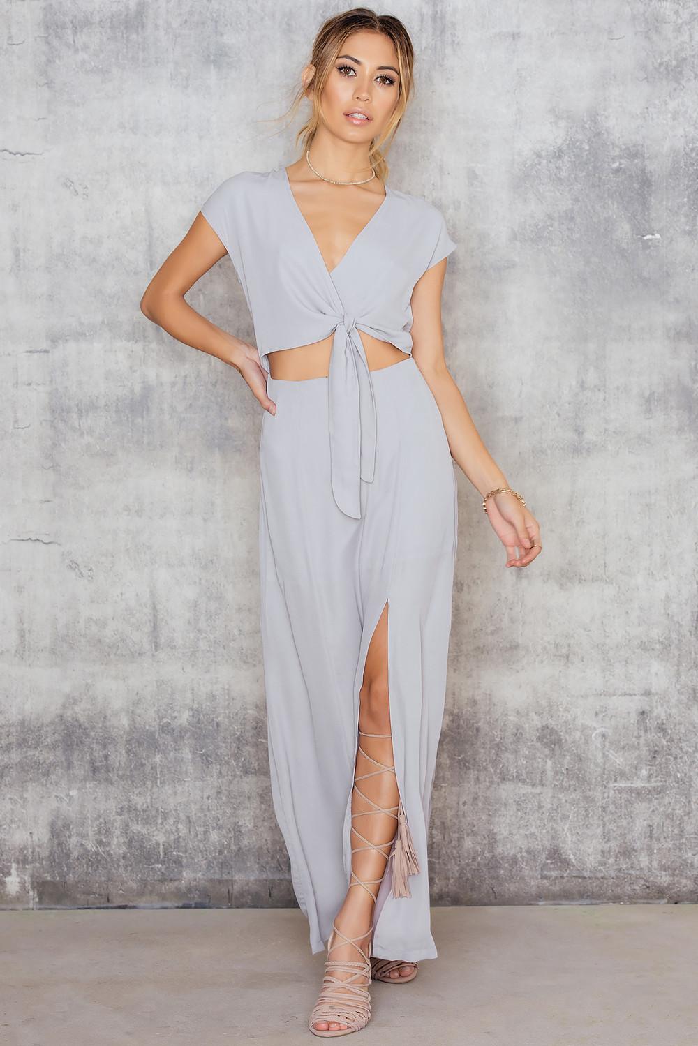 Girls on Film Maxi Split Dress