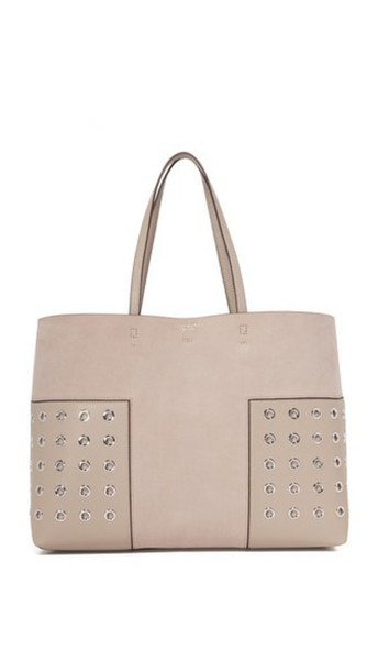 Tory Burch Block T Grommet Tote - French Gray