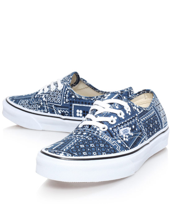 Vans Navy Bandana Print Authentic Trainers | Women's Shoes | Liberty.co.uk