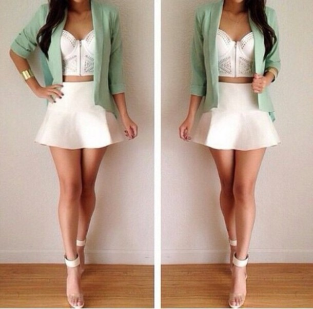 jacket top skirt