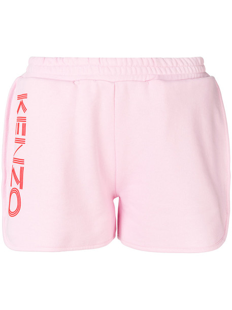 Kenzo shorts women cotton print purple pink