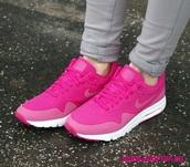 shoes,fire berry,style,fashion,pink,cute,sneakers,nike shoes,nike air,nike air force 1,pink shoes,girly shoes,girly,bright sneakers