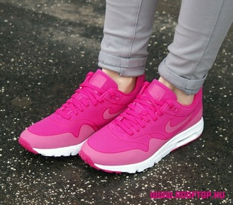 shoes fire berry style fashion pink cute sneakers nike shoes nike air nike air force 1 pink shoes girly shoes girly bright sneakers