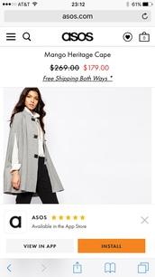 jacket,mng heritage cape