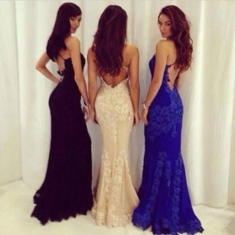 blue dress black dress backless dress dress